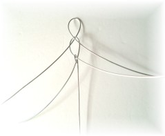 attach hanging wire