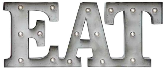 metal eat sign