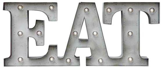 metal eat sign