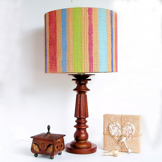 yoga mat lamp shade tutorial