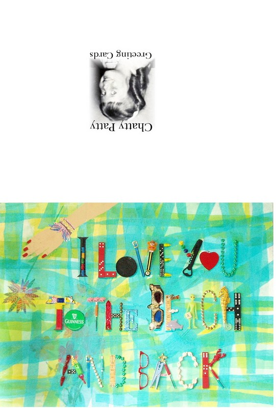 love you to the beach and back greeting card photo