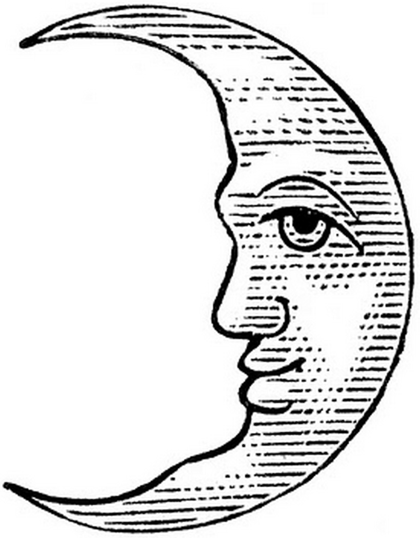 crescent facing left