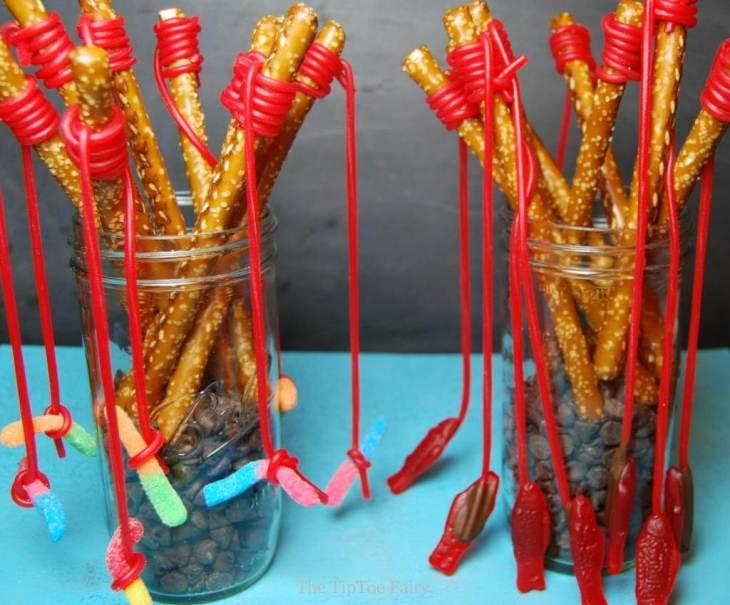 fish pole pretzels