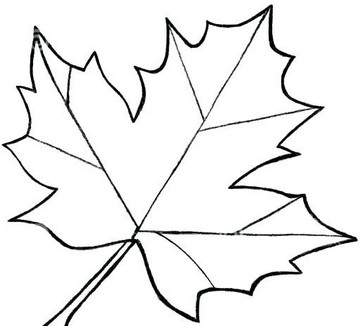 fall leaf coloring page ? radiorebeldefo