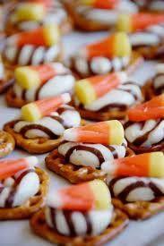 candy corn pretzel cookies
