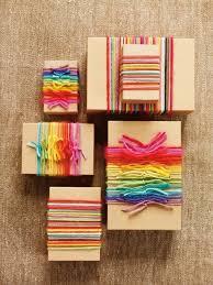 yarn gift wrap