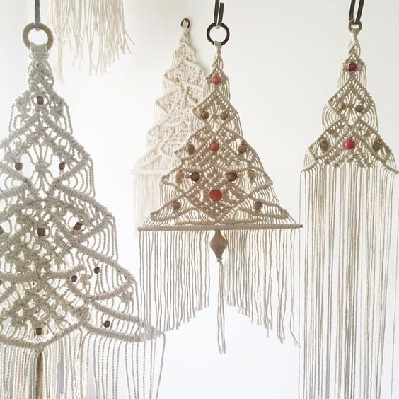 Macrame Christmas Trees Whimziville