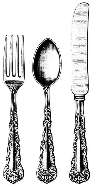 collage silverware