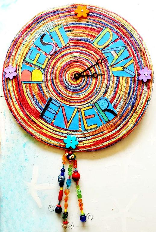 best day ever clock closeup