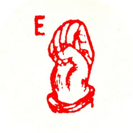 red letter e