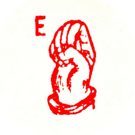 red letter e