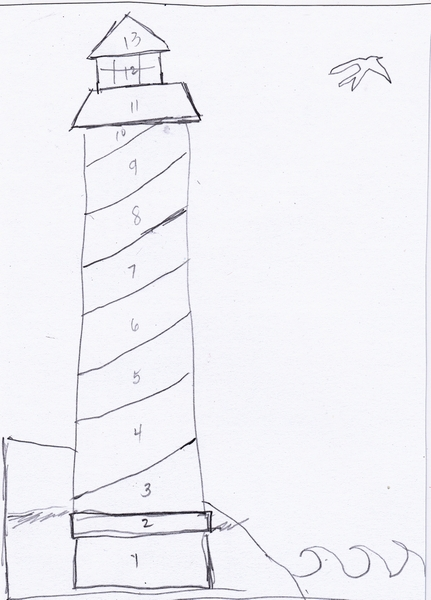 washi tape lighthouse template pdf pic
