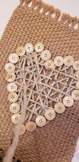 yarn wall hanign weave
