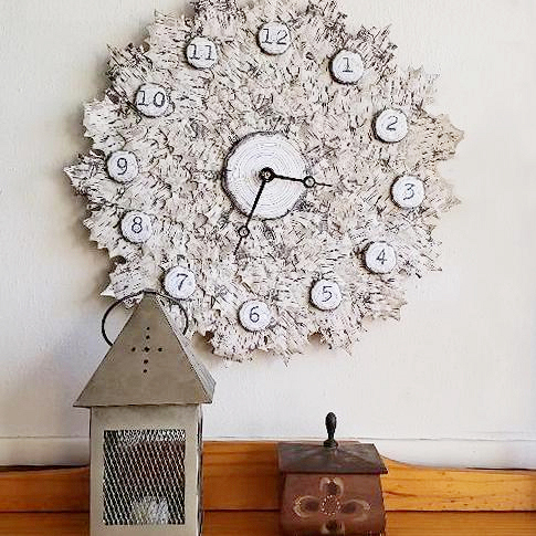birch clock feature