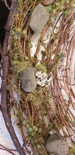 nest clock moss rocks after