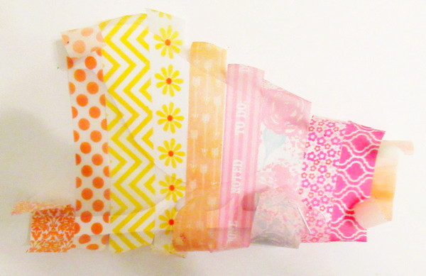 washi tape bird covered