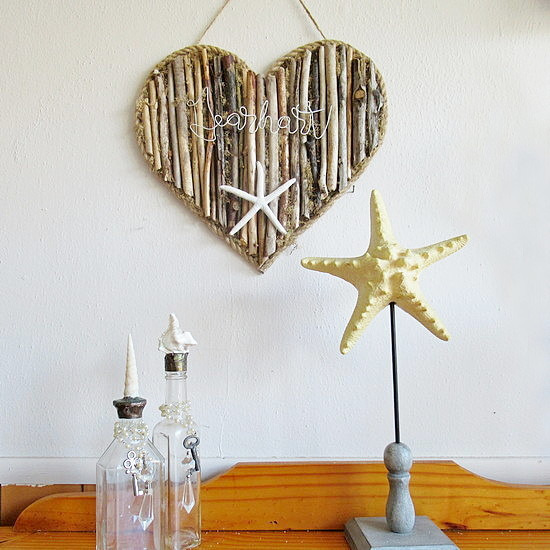 driftwood heart feature