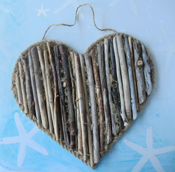 driftwood heart finished