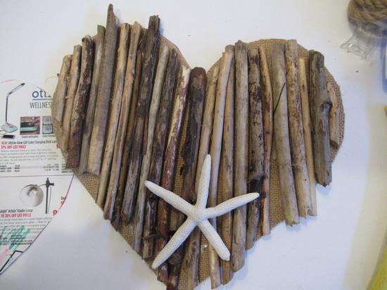 driftwood heart mockup
