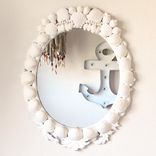 shell encrusted mirror cff
