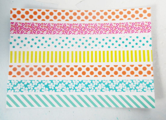 washi card tape lines