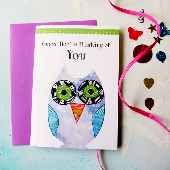 washi tape owl card feature