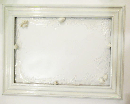 white frame diamond glaze