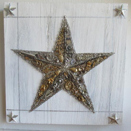 junk jewelry star closeup