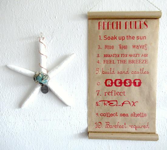 kraft paper sign