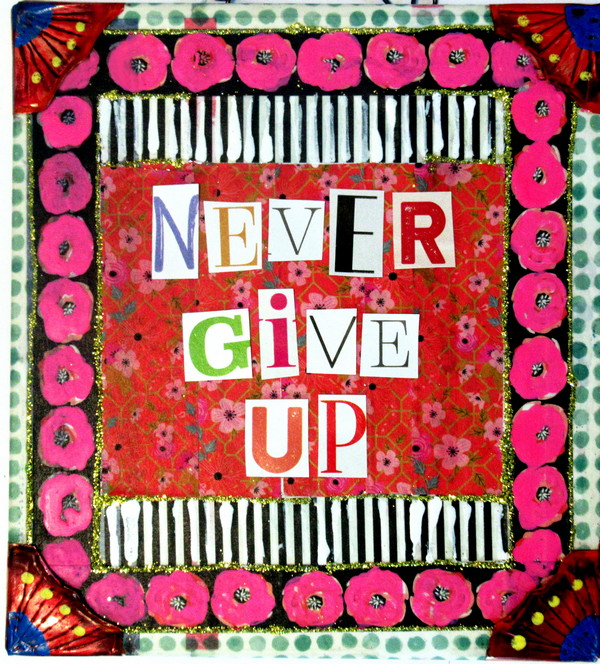 Never Give Up art for pdf