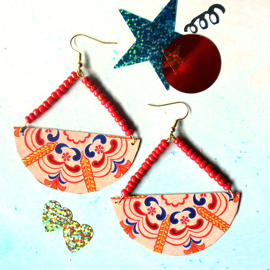 tin earrings April c