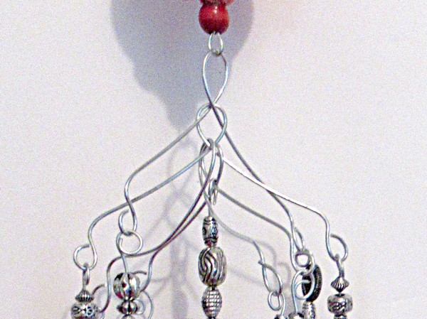 dotted wind chime metal pieces