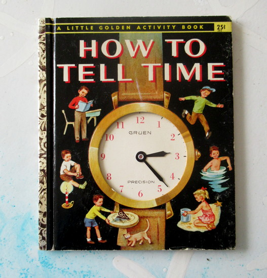 golden book clock
