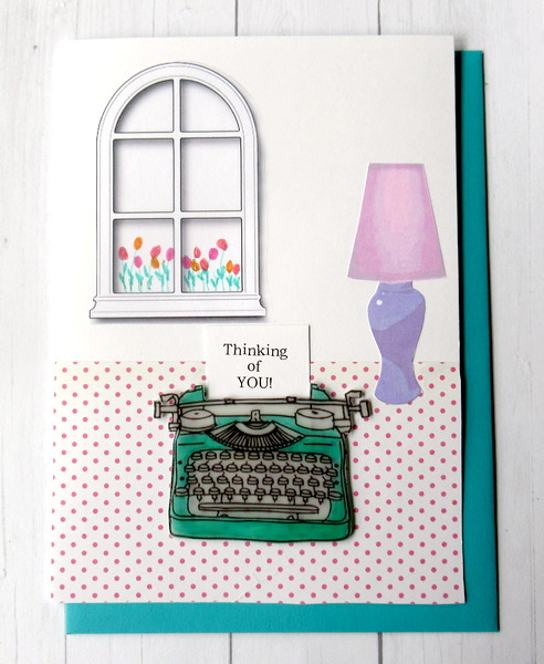 typewriter green top