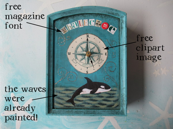 whalecome clock details