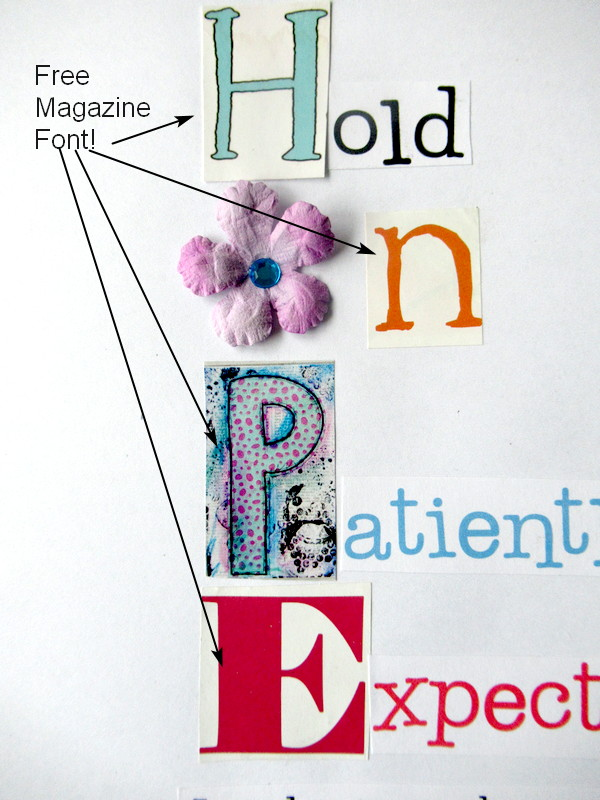 hope magazine font