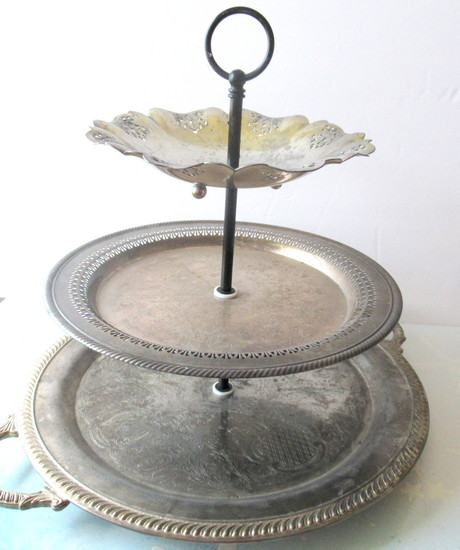 silverplate lazy susan