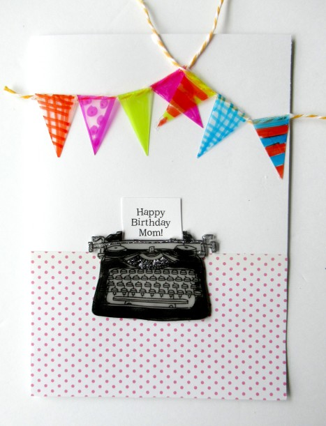 typewriter card top