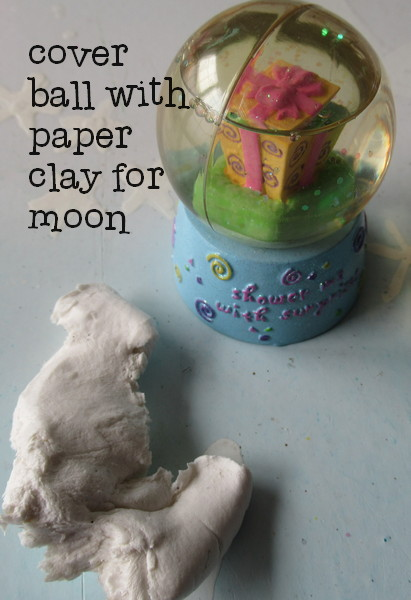 trip to the moon paper clay