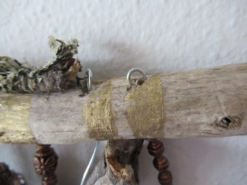 driftwood wall hanging cover top loops