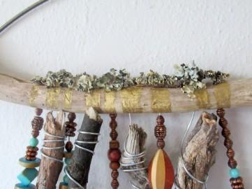 driftwood wall hanging moss