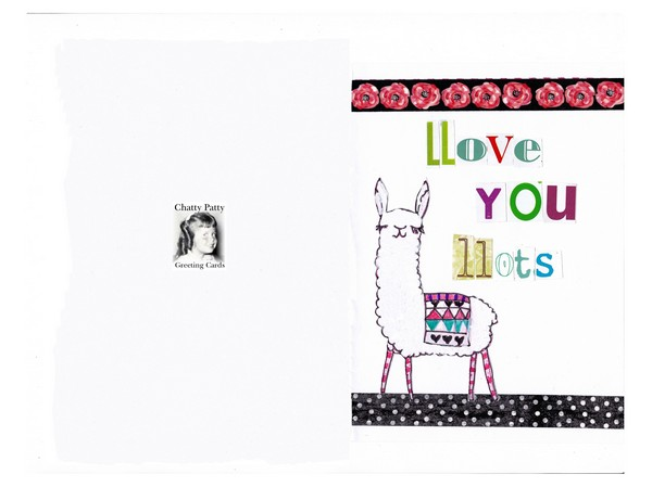 llama card photo for pdf
