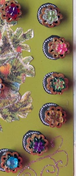 advdent sheet metal button ornaments
