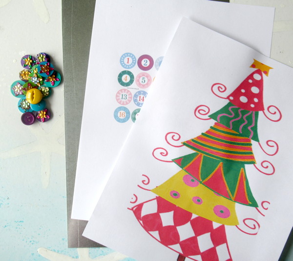 advent topsy christmas card start