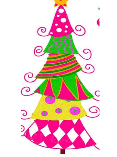 advent whimsical tree pattern jpeg for pdf