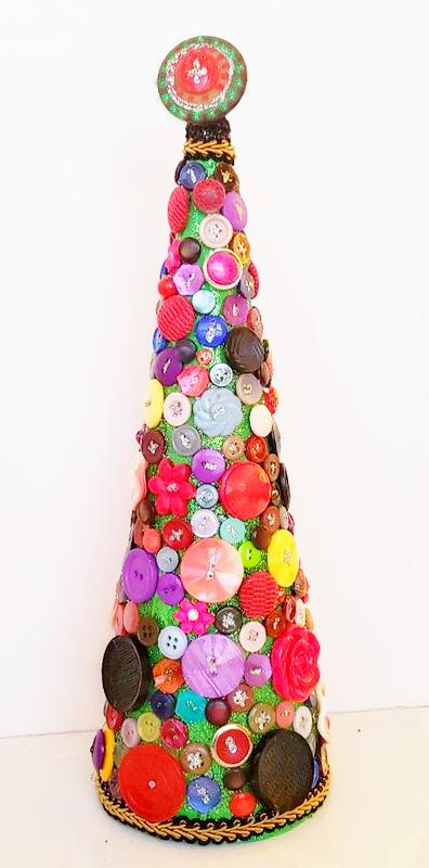 colorful button tree