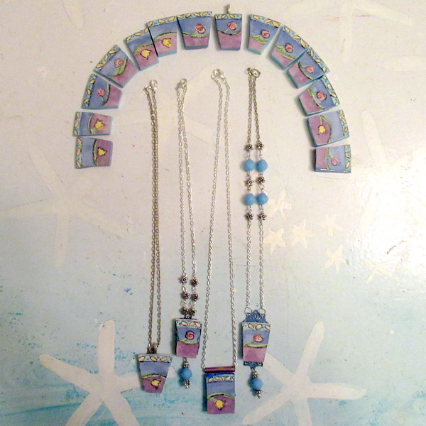 ceramic necklace set feature