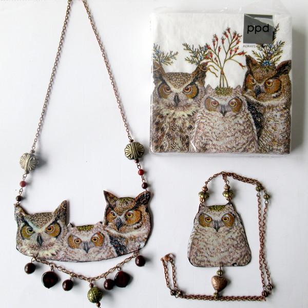 owl napkin collection