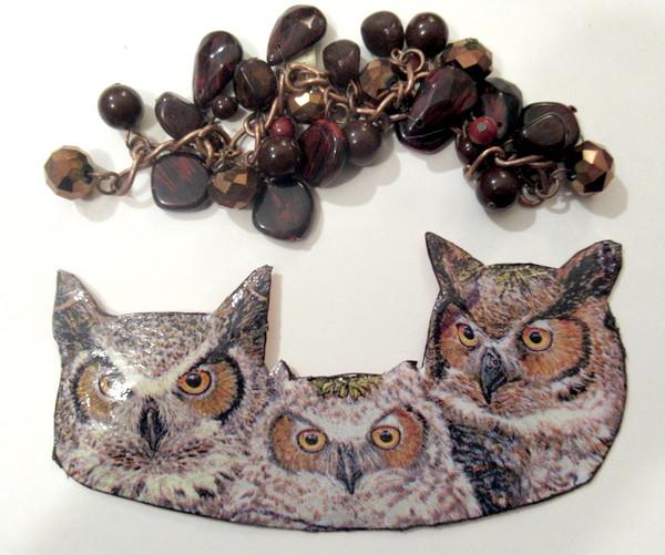 owl napkin bead set