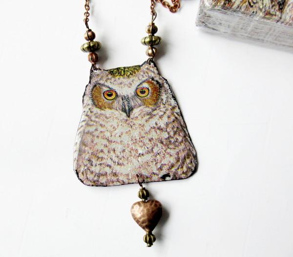 owl napkin single closeup